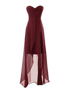 The Most Amazing Maid Of Honor Dress A Chiffon Red High Low Dress And I Love It So Much!!!!!!!!!!!!!