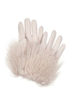 Alexander McQueen | Shearling-trimmed leather gloves | NET-A-PORTER.COM