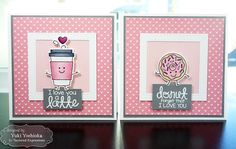 """Share Joy Challenge #17: Valentine's Day card set by Handmade by Yuki   """"Pizza My Heart"""" by Taylored Expressions"""