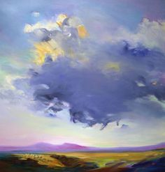 Buy Seated Cloud, a Oil on Canvas by Lee Bowers from . It portrays: Landscape, relevant to: turmoil, clouds, density, dramatic, lavender sky, ethereal, landscape, mountains, mystical Oil on linen.  Imagined Northern New Mexico Landscape.
