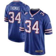 Mens Buffalo Bills Thurman Thomas Nike Royal Blue Retired Player Game Jersey #ad #nfl #football