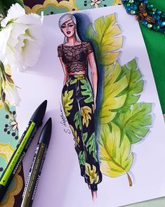 Dress Design Sketches, Fashion Design Sketchbook, Fashion Design Drawings, Fashion Sketches, Art Sketches, Fashion Model Drawing, Fashion Drawing Dresses, Fashion Illustration Dresses, Arte Fashion