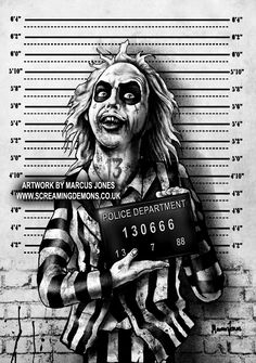 Beetlejuice Mugshot by Marcus Jones