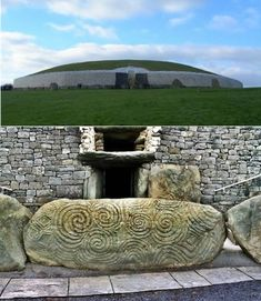 The Megalithic Passage Tomb, Newgrange, County Meath Ireland, constructed over 5000 years ago (about 3200 BC). It is estimated that the construction of the Passage Tomb at Newgrange would have taken a work force of 300 at least 20 years.