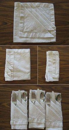 Как сложить салфетку