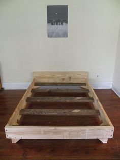 2 x 8 Bed I need to do this! Pretty simple and pretty much every guy I know has these tools(: plus I could stain it darker and make it match my existing furniture!