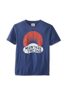Tailgate Clothing Company Men's Montauk The End T-Shirt (Washed Royal)