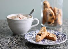 Hazelnut, Sour Cherry & Orange Biscotti | Urban Cottage Life Urban Cottage, Sour Cherry, Coffee Break, Biscotti, Orange, Baking, Breakfast, Tableware, Recipes