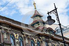 Красивое здание в китайском стиле в Москве