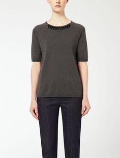 Camiseta de seda y algodón
