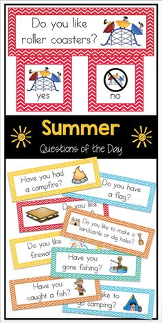 Easy-to-read questions of the day for spring. Great for preschool or kindergarten. Use for attendance, morning meeting, graphing and more. Great way to practice sight words and beginning reading. These questions can also be used for graphing during math. Kindergarten Games, Preschool Lessons, Kindergarten Classroom, Preschool Activities, Calendar Activities, Calendar Ideas, Classroom Setup, Classroom Resources, Teaching Resources