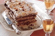 Hazelnut vacherin with chocolate-coffee cream. <a ...