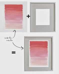 DIY: framed wrapping paper