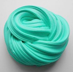 Excited to share the latest addition to my # etsy store: Teal unscented fluffy sli … - Slime Butter Slime Recipe, Fluffy Slime Recipe, Making Fluffy Slime, Le Slime, Slimy Slime, Slime Uk, Jelly Slime, Diy Crafts Slime, Slime Craft