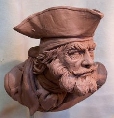 Pirate sculpt, Preston Palmer on ArtStation at https://www.artstation.com/artwork/E9Ny0