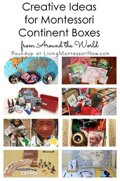 Roundup with a long list of ideas for Montessori continent boxes for classroom or homeschool ... perfect for hands-on geography activities for preschoolers - Living Montessori Now #Montessori #geography #homeschool #preschool