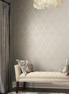 Silk Trellis pattern #wallauer #wallpaper #york #new #interior #design #wallcovering #home #decor #lavender #classic #vintage
