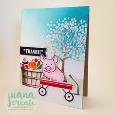 Juana Ambida | This Little Piggy says Thanks | Crazy Crafters blog hop with Jay Soriano | #Thislittlepiggy, #handmadecards, #thankyoucards, #stampinup, #juanacreate