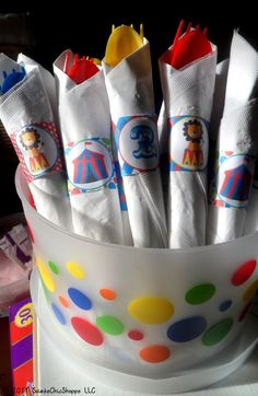 Printable Circus Birthday Party Napkin Wraps
