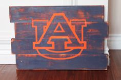 Auburn University Distressed Wood Sign by wintermountain on Etsy, $32.00 Colors reversed