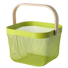 Best Things to Buy at IKEA Right Now: Made of powder-coated steel, this mod basket is a sturdy pick for a variety of places. Use it to store seed packets in your potting shed, toiletries in your bathroom, or art supplies in the kids' playroom. It's also available in goes-with-anything white.RISATORP Wire Basket, Green, $12.99