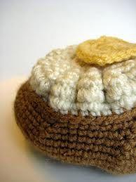 crochet baked potato - Google Search