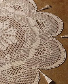 "There are over pattern in ""The Crochet! 10 Year Anniversary Collection and this is just one of the designs. Filet Crochet Charts, Crochet Doily Patterns, Crochet Patterns For Beginners, Thread Crochet, Crochet Motif, Crochet Designs, Crochet Doilies, Crochet Stitches, Knit Crochet"
