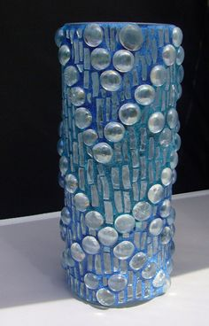 Mosaic Vase In Blues by zzbob on Etsy, $36.00