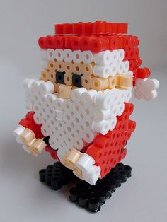 3D Christmas Santa Claus perler beads by miomio5