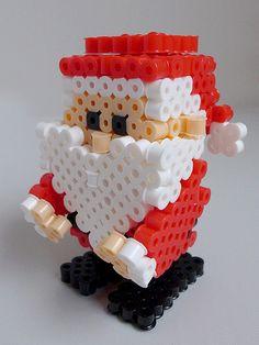 3D Christmas Santa Claus perler beads by miomio5