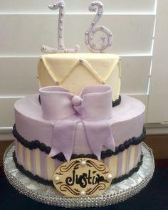 Shabby Chic themed Happy Birthday Cake