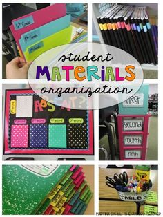 Organizing student materials in the upper elementary and middle school classrooms!