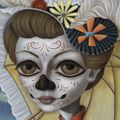 "The Portrait of Doña Catrina., 64"" x 48"", 2011. Brandon Maldonado"