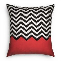 Chevron Stripe Scatter Cushion. I want these but with turquoise :)