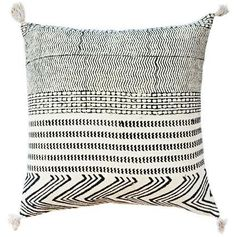 The perfect accent pillows for any room, Lulu and Georgia has colorful couch pillows, patterned sofa pillows, and decorative throw pillows to fit every style! Black And White Pillows, White Throw Pillows, Diy Pillows, Accent Pillows, Decorative Throw Pillows, Cushions, Maya, Bohemian Pillows, Black Decor