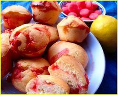 Muffins au citron et fraises Tagada