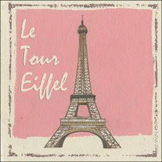 """Eiffel Tower Metal Sign by OMSC. $17.50. This sign measures 12"""" by 12""""; Rounded corners with holes for easy hanging; Glossy, full-color, enamalized imaged baked onto thick, 24-gauge steel; Ships in Ploy-bag for complete protection; Eco-friendly process, hand-made in the USA. This sign features art by Martin Wiscombe. Born and raised in Lyme Regis, Dorset, Martin studied illustration and design in the west country, then went on to spend more than 15 years working in London. A..."""