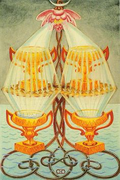 """Four of Cups Thoth Tarot - """"Luxury"""""""