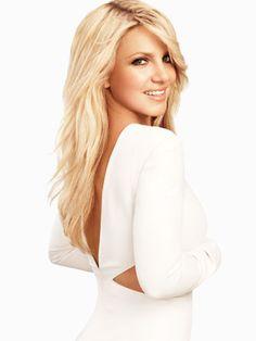 Britney Spears wears white Bill Blass