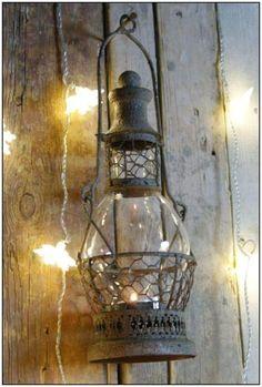 370 -10% Stylowy LAMPION LATARENKA Świecznik POMPEJE Shabby chic