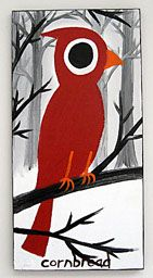 I think John Anderson a.k.a. 'Cornbread', is my favorite artist. I have two of his works. He paints on wood and paints native animals to Georgia. Just love his work.