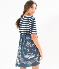 vestido listras cheiro de mar