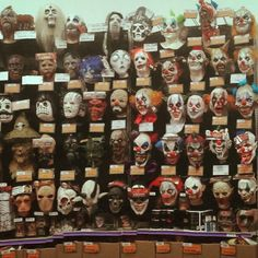 Party City San Antonio Mask Wall @partycity  #ghoulishproductions #partycity #halloween #halloweenmask #mask #halloweencity #mask #latexmask #trickortreatstudios #zombie #clown #vampire #monster #werewolf #witch #wolf #pinhead #ghost #pennywise #31 #robzombie #slenderman #scary #horror #movie #madeinmexico