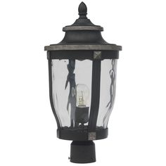 Home Decorators Collection McCarthy 1-Light Bronze Outdoor Post Mount-23446 - The Home Depot