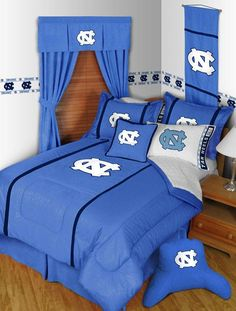 #oBedding - #Sports Coverage Inc NCAA North Carolina Tar Heels Twin Comforter - Chapel Hill Basketball MVP Blanket Logo Bedding - AdoreWe.com