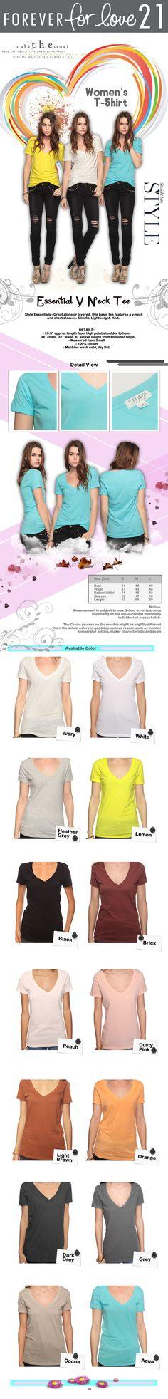 F21 basic t-shirt F21, My Design, T Shirt, Outfits, Shopping, Style, Fashion, Supreme T Shirt, Swag