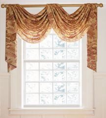 waterfall treatments for french doors | Pole Swag Valance