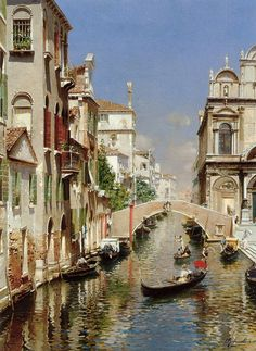 Rubens Santoro A Venetian Canal with the Scuola Grande di San Marco and Campo San Giovanni e Paolo, Venice painting framed paintings for sale Venice Painting, Italy Painting, Venice Canals, Venice Italy, Gondola Venice, Carnival Venice, Venice Beach, City Art, Oil Painting Abstract
