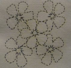 Sashiko embroidery- could be used in Crazy Quilting.