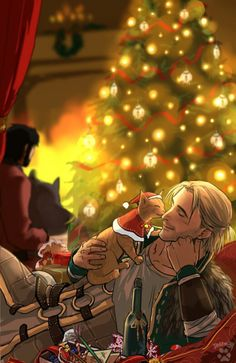 Xmas with Hawke and Anders http://dakkun39.tumblr.com | Dragon Age ...